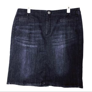 J. Jill Woman's Smooth Fit Jeans Skirt Size 14